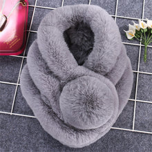 Load image into Gallery viewer, Luxury Winter Faux Fur Collar Coat Women Scarf Warm Hairy Soft Shawl Hood Fur Decor For Jackets