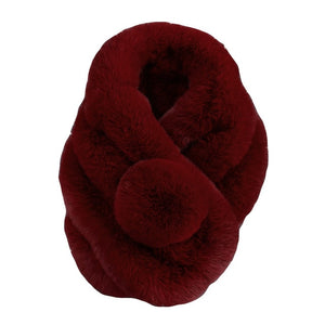 Luxury Winter Faux Fur Collar Coat Women Scarf Warm Hairy Soft Shawl Hood Fur Decor For Jackets