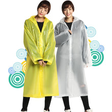 Load image into Gallery viewer, Fashion EVA Women Man Raincoat Thickened Waterproof Rain Poncho Coat Adult Clear