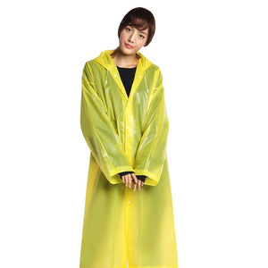 Fashion EVA Women Man Raincoat Thickened Waterproof Rain Poncho Coat Adult Clear