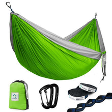Load image into Gallery viewer, Camping Hammock with Hammock Tree Straps Portable Parachute Nylon Hammock