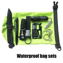 Load image into Gallery viewer, Survival Kit Set 9 in 1  Military Outdoor Tourism Multifunction First aid Survival Kit Knife