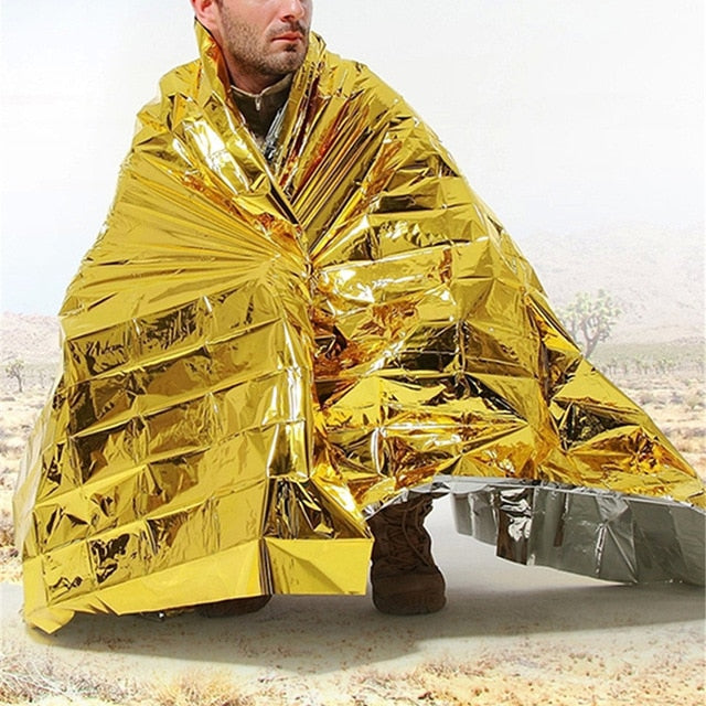 Outdoor Survival Equipment Emergency Insulation Blanket Shelter