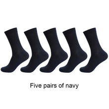 Load image into Gallery viewer, 5 Pairs / lot Bamboo Fiber Men's Socks Casual Solid Color Cotton Socks