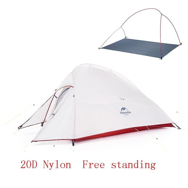 Naturehike Upgraded Cloud Up 2 Ultralight Tent Free Standing For 2 Person With free Mat