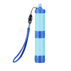 Pressurized water purification straw portable outdoor water filter