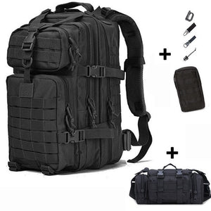50L Tactical Backpack Military Bag Army Outdoor Waterproof