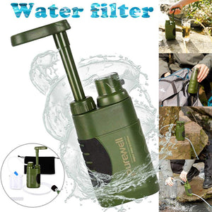 Outdoor Water Purifier Emergency Life Survival Water Filter Mini Portable Filter