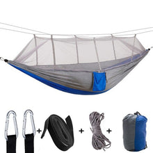 Load image into Gallery viewer, 2 Person Portable Outdoor Camping Hammock with Mosquito Net High Strength Parachute Fabric