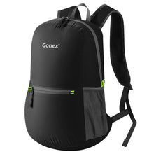 Load image into Gallery viewer, Ultralight Backpack Foldable Daypack Nylon Black Bag for School Travel Hiking Outdoor