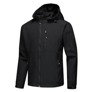 Men Sport Zip Jackets Coat Casual Outwear Waterproof