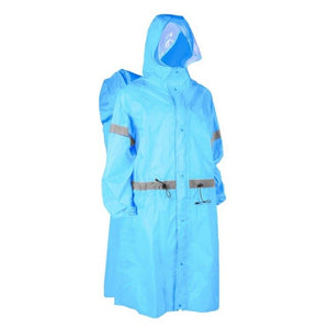 New Outdoor Raincoat One-Piece Hooded Long Sleeve Reflective