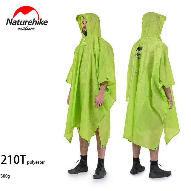 Naturehike raincoat camping poncho backpack rain jackets for cycling climbing