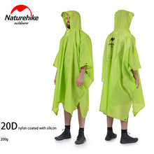 Load image into Gallery viewer, Naturehike raincoat camping poncho backpack rain jackets for cycling climbing