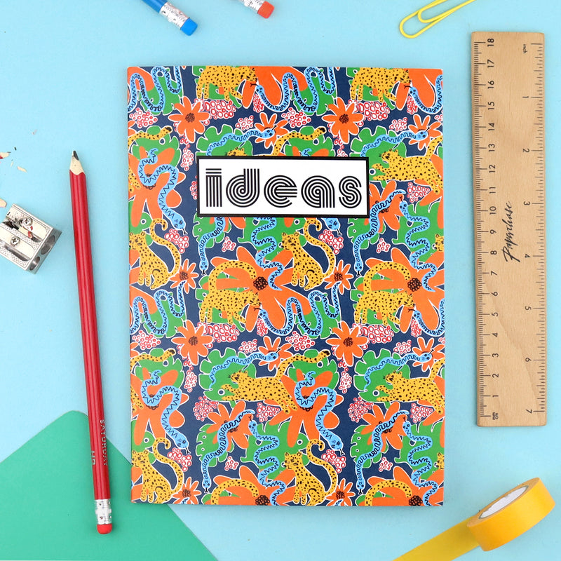 A5 Notebook - Funky Jungle Print