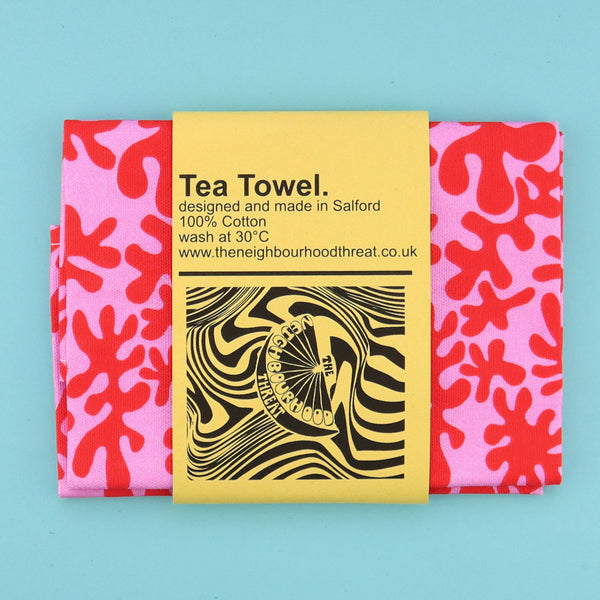 Abstract Two Tone Tea Towel