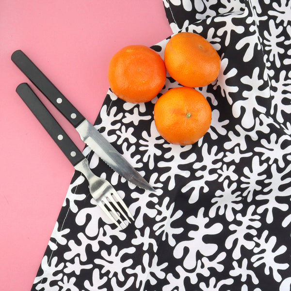 Monochrome Twist Tea Towel