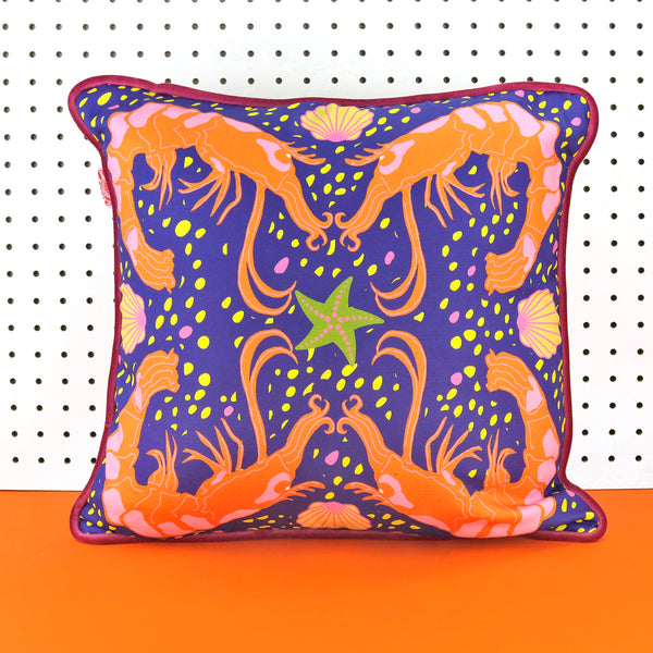 Crustacean Cushion - Blue
