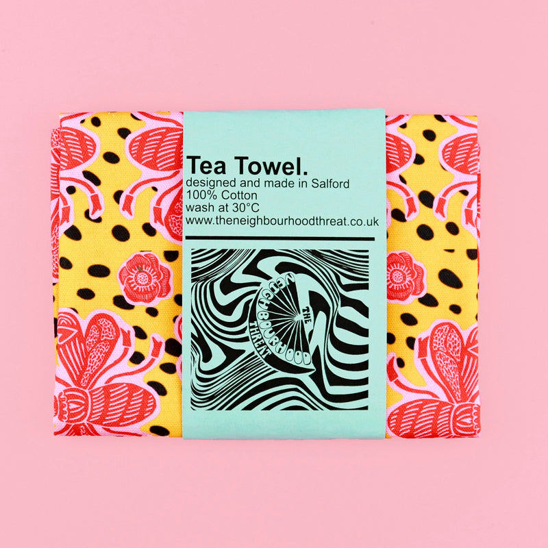 Yellow Bee Tea Towel