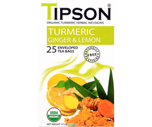 Load image into Gallery viewer, Organic Turmeric Ginger & Lemon