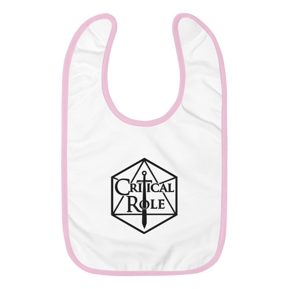 Embroidered Critical Role Merch Baby Bib - MillionMerch