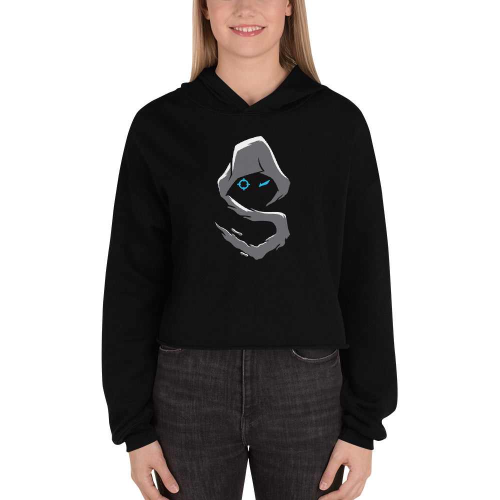 Shroud Merch Crop Hoodie for Women
