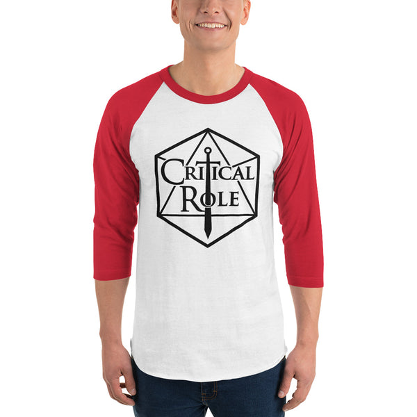 Critical Role Merch 3/4 sleeve raglan shirt - MillionMerch