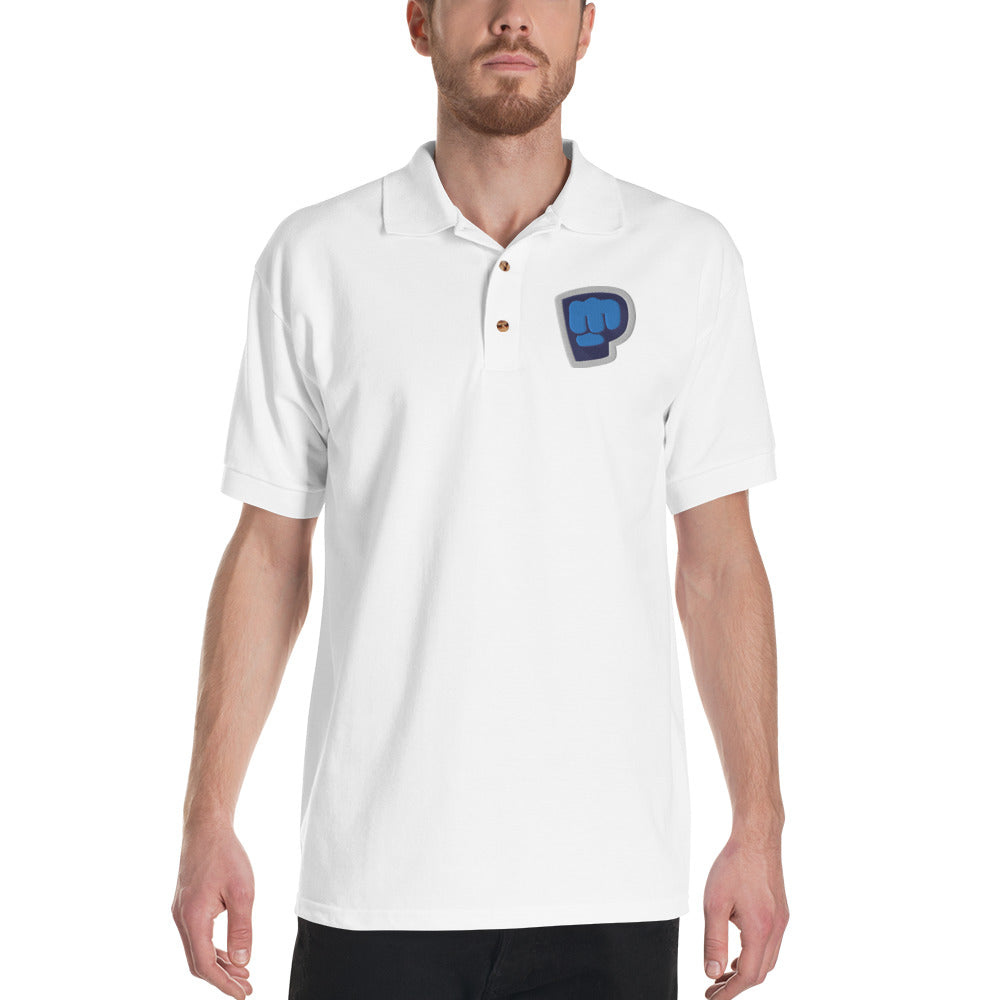 Pewdiepie Embroidered Polo Shirt - MillionMerch
