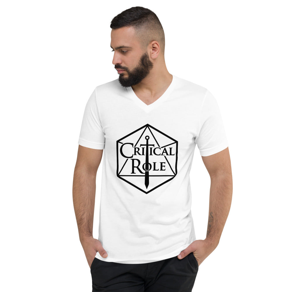 Critical Role Merch Unisex Short Sleeve V-Neck T-Shirt - MillionMerch