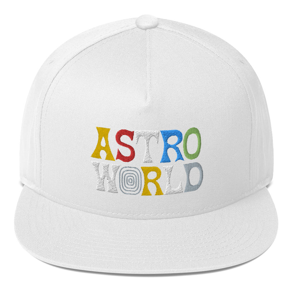Travis Scott AstroWorld Flat Bill Cap - MillionMerch