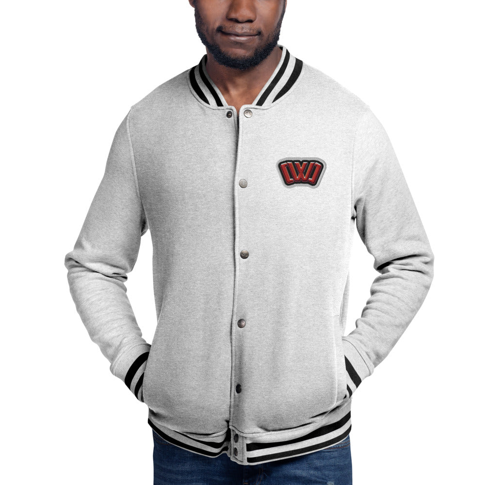 CWC Merch Embroidered Champion Bomber Jacket