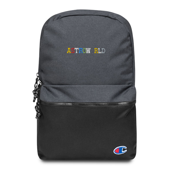 Travis Scott AstroWorld Embroidered Champion Backpack - MillionMerch