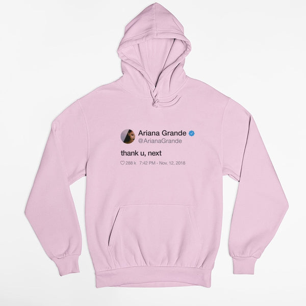 Thank U Next Ariana Grande Casual Pullover Long Sleeve Hoodie
