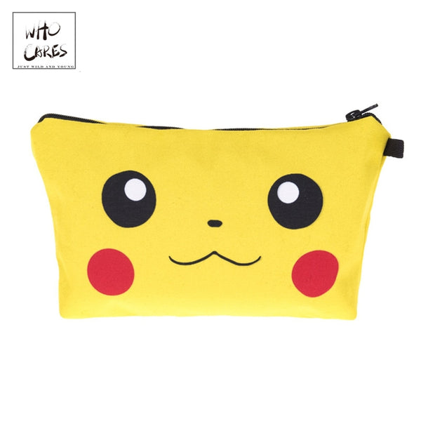 Pikachu 3D Printed Fashion Cosmetic Organizer Bag