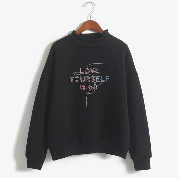 Women LOVE YOURSELF Letter Printed Billie Eilish Hoodie