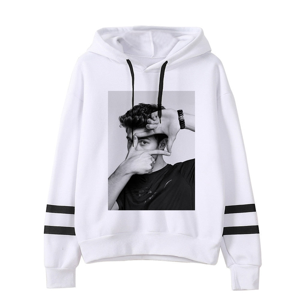 Shawn Mendes Long Sleeve Pullover Hoodie Jacket - MillionMerch
