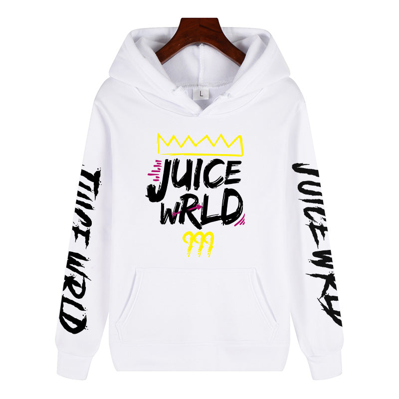 black and white red JUICE Wrld hoodie sweatshirt juice wrld - MillionMerch