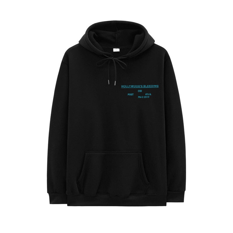 Post Malone Hollywood'S Bleeding Letter Print Hoodie
