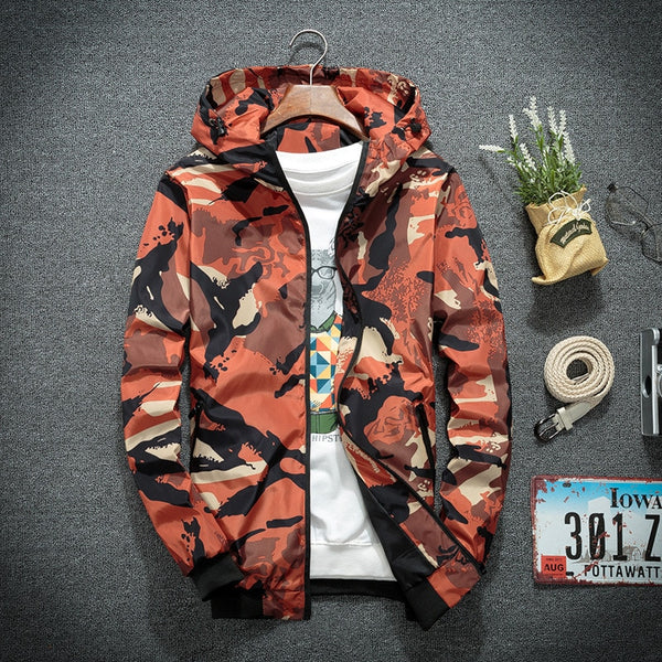 Men Camouflage Hooded Latest Jacket