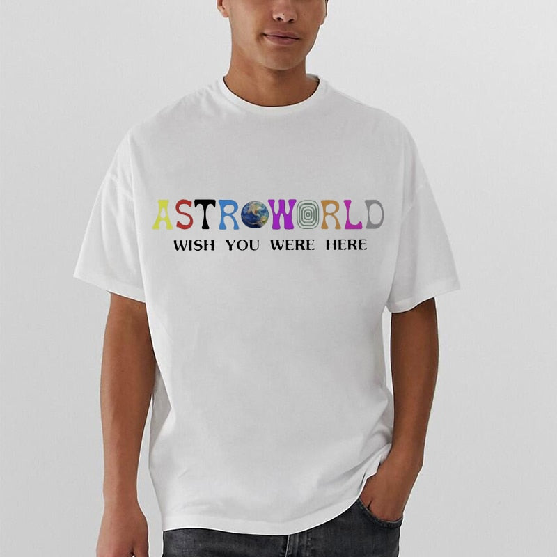 2020 Fashion Hip Hop T Shirt Men/women Travis Scotts ASTROWORLD