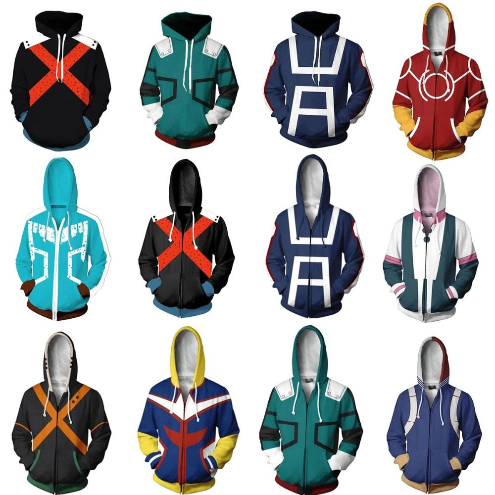 My Hero Academia Midoriya Izuku Deku Uniforms Zip up Jackets