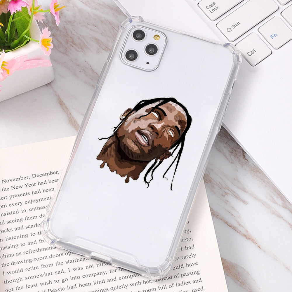 Luxury Travis Scott Silicone Soft Cover Phone Case For iPhone