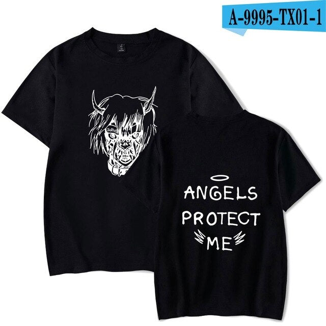Lil Peep ANGELS PROTECT ME Cotton T Shirt