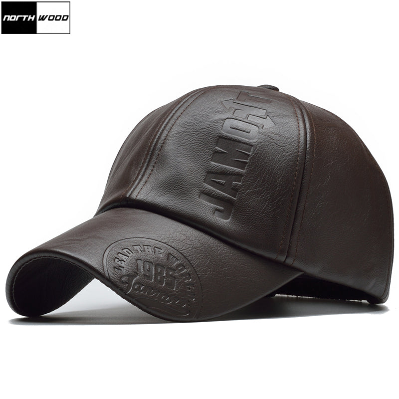 [NORTHWOOD] New High Quality Winter PU Leather Cap - MillionMerch