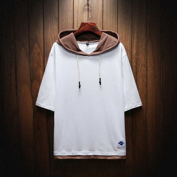 Men's Street Wear Short Sleeves Sweatshirt