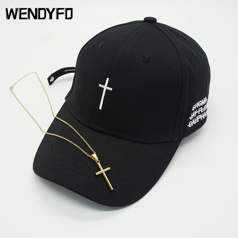 New Men Women Fashion Embroidery Cross Baseball Cap - MillionMerch