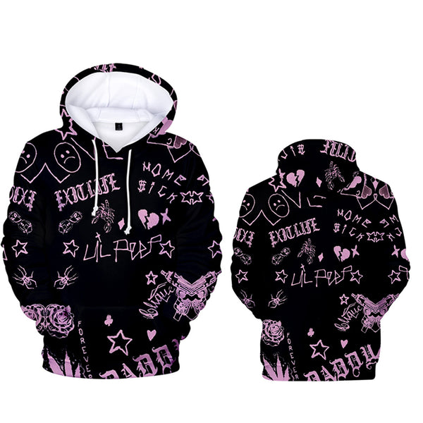 New Lil Peep Merch Printed Hoodie - MillionMerch