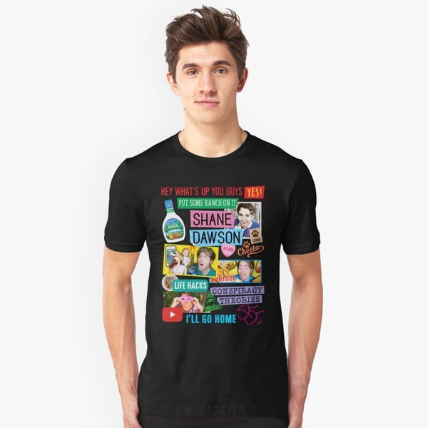 Shane Dawson Collage Round Neck T-Shirt - MillionMerch