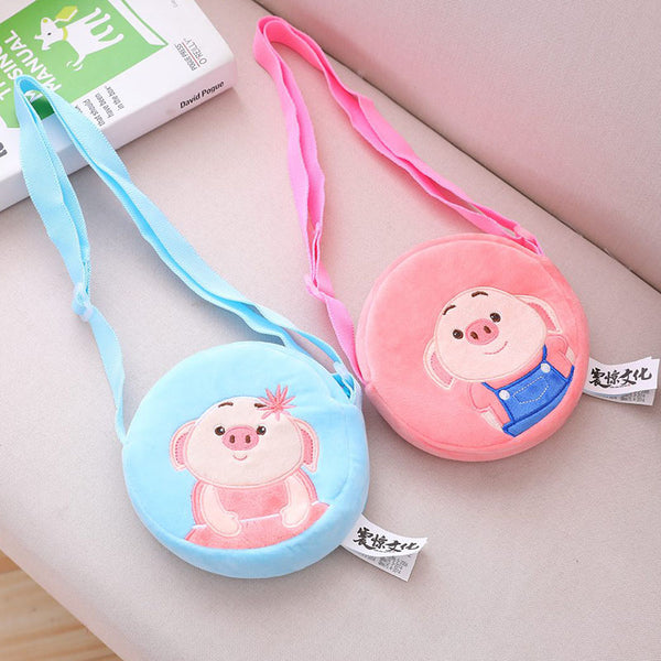 cartoon pig plush crossbody bag