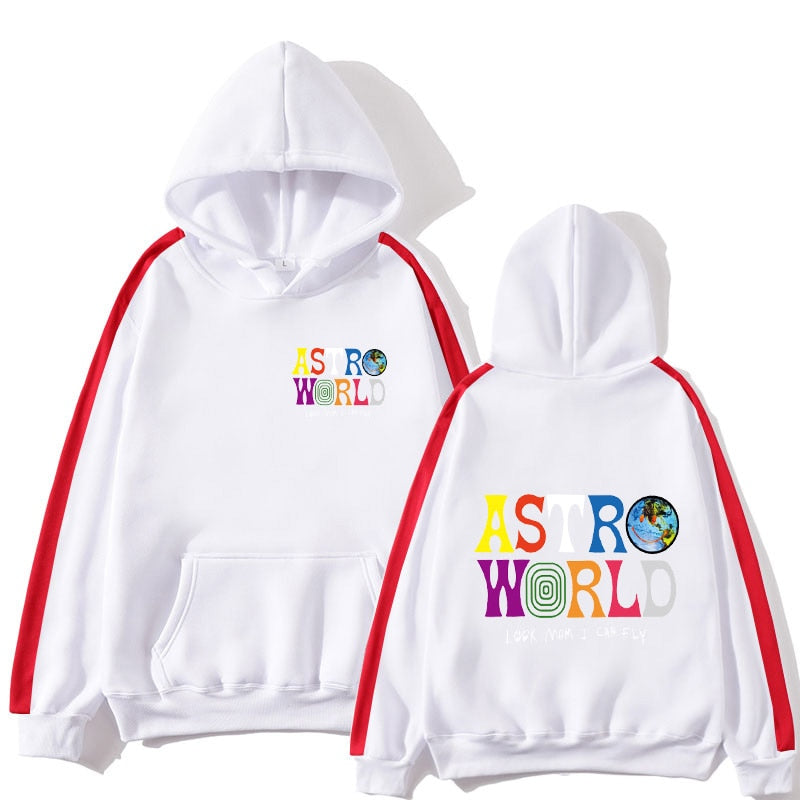 Travis Scotts ASTROWORLD Hoodies new style streetwear PulloverColorblock shirt